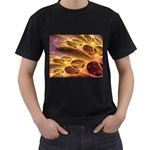 Forgotten Caverns of Dust Fantasy Fractal Black T-Shirt