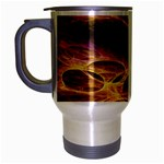 Forgotten Caverns of Dust Fantasy Fractal Travel Mug (Silver Gray)