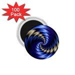 Blue Spin into Dizziness Fantasy Fractal 1.75  Magnet (100 pack)