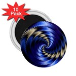 Blue Spin into Dizziness Fantasy Fractal 2.25  Magnet (10 pack)