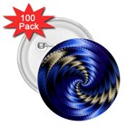 Blue Spin into Dizziness Fantasy Fractal 2.25  Button (100 pack)