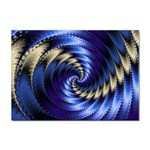 Blue Spin into Dizziness Fantasy Fractal Sticker (A4)