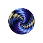 Blue Spin into Dizziness Fantasy Fractal Magnet 3  (Round)