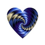 Blue Spin into Dizziness Fantasy Fractal Magnet (Heart)