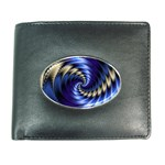 Blue Spin into Dizziness Fantasy Fractal Wallet