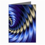 Blue Spin into Dizziness Fantasy Fractal Greeting Card
