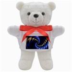 Blue Spin into Dizziness Fantasy Fractal Teddy Bear