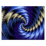 Blue Spin into Dizziness Fantasy Fractal Jigsaw Puzzle (Rectangular)