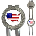 American Map Flag 3-in-1 Golf Divot