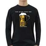 Apt-get Beer Long Sleeve Dark T-Shirt
