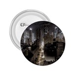 New York Gothic Dark Cityscape at Night 2.25  Button