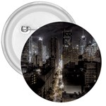 New York Gothic Dark Cityscape at Night 3  Button