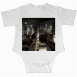 New York Gothic Dark Cityscape at Night Infant Creeper