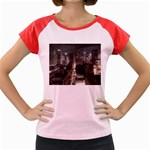 New York Gothic Dark Cityscape at Night Women s Cap Sleeve T-Shirt