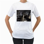 New York Gothic Dark Cityscape at Night Women s T-Shirt