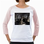 New York Gothic Dark Cityscape at Night Girly Raglan