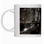 New York Gothic Dark Cityscape at Night White Mug
