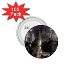 New York Gothic Dark Cityscape at Night 1.75  Button (100 pack)