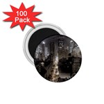 New York Gothic Dark Cityscape at Night 1.75  Magnet (100 pack)