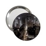 New York Gothic Dark Cityscape at Night 2.25  Handbag Mirror