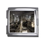New York Gothic Dark Cityscape at Night Mega Link Italian Charm (18mm)