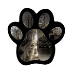 New York Gothic Dark Cityscape at Night Magnet (Paw Print)