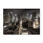 New York Gothic Dark Cityscape at Night Sticker A4 (10 pack)