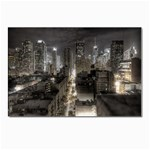 New York Gothic Dark Cityscape at Night Postcard 5  x 7