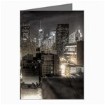 New York Gothic Dark Cityscape at Night Greeting Card