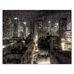 New York Gothic Dark Cityscape at Night Jigsaw Puzzle (Rectangular)