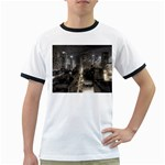 New York Gothic Dark Cityscape at Night Ringer T