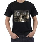New York Gothic Dark Cityscape at Night Black T-Shirt
