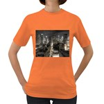 New York Gothic Dark Cityscape at Night Women s Dark T-Shirt