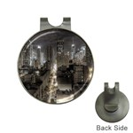New York Gothic Dark Cityscape at Night Golf Ball Marker Hat Clip