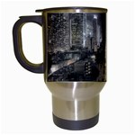 New York Gothic Dark Cityscape at Night Travel Mug (White)