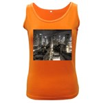 New York Gothic Dark Cityscape at Night Women s Dark Tank Top