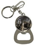 New York Gothic Dark Cityscape at Night Bottle Opener Key Chain