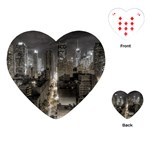 New York Gothic Dark Cityscape at Night Playing Cards (Heart)