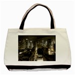 New York Gothic Dark Cityscape at Night Classic Tote Bag
