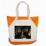 New York Gothic Dark Cityscape at Night Accent Tote Bag