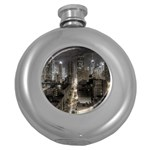 New York Gothic Dark Cityscape at Night Hip Flask (5 oz)