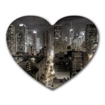 New York Gothic Dark Cityscape at Night Mousepad (Heart)