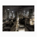 New York Gothic Dark Cityscape at Night Glasses Cloth (Small, Two Sides)