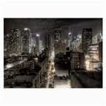 New York Gothic Dark Cityscape at Night Glasses Cloth (Large, Two Sides)