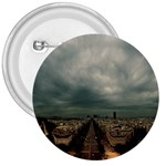 Gothic City Landscape and Storm Clouds 3  Button