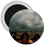 Gothic City Landscape and Storm Clouds 3  Magnet