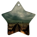 Gothic City Landscape and Storm Clouds Ornament (Star)