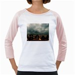Gothic City Landscape and Storm Clouds Girly Raglan