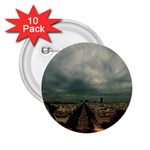 Gothic City Landscape and Storm Clouds 2.25  Button (10 pack)