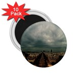 Gothic City Landscape and Storm Clouds 2.25  Magnet (10 pack)